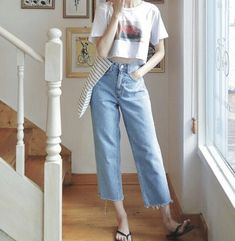 Best Casual Outfits, Teen Fashion Outfits, Korean Outfits, Cute Outfits, Korean Fashion Trends, Korean Street Fashion, Asian Fashion, Ulzzang Fashion, Kpop Fashion