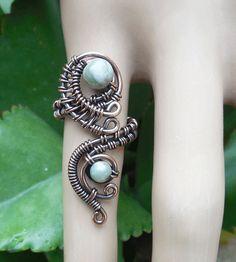 Bague ajustable - boho anneaux - anneaux Bohème - boho - anneaux tzigane - mystique bijoux - fil enveloppé anneau - bijoux fil - anneaux cool