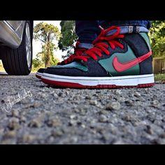 0ceeda2e5b40 Nike SB Dunk High Gucci  sneakers  nike  nikesb - Download Swaag for iOS