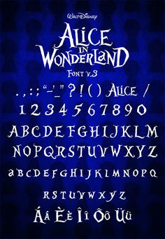 "So this is the latest version of my font ""Alice in Wonderland"" It contains most of the main characters so you can write in english, spanish, germ. Alice in Wonderland Font Letras Queen, Alice In Wonderland Font, Disney Letters, Harry Potter Stickers, Typographie Inspiration, Hand Lettering Alphabet, Were All Mad Here, Writing Styles, Bullet Journal Inspiration"