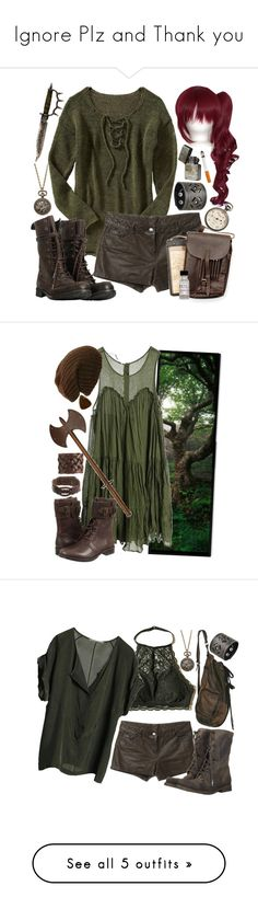 """""""Ignore Plz and Thank you"""" by neverland-is-just-a-dream-away ❤ liked on Polyvore featuring Old Navy, Haute Hippie, Nemesis, AllSaints, CB I Hate Perfume, Custommade, Motif 56, UGG Australia, Hollister Co. and Graumann"""