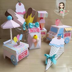 Candy Theme Birthday Party, Candy Party, First Birthday Parties, First Birthdays, Ice Cream Theme, Ice Cream Candy, Paper Flower Patterns, Candy Packaging, Ice Cream Social