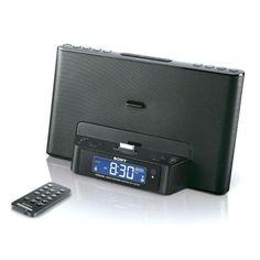 :Sony, Ipod Iphone Ipad Clock Radio Speaker Dock Black