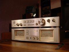 Vintage audio Luxman - DSCF0146 Pre/Power Amplifier Hi Fi Stereo