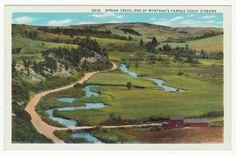 Postcards - United States # 127 - Spring Creek, Montana