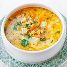 Rewelacyjna zupa meksykańska z kurczakiem, kukurydzą, marchewką i porem. Doprawiona czosnkiem, kminem rzymskim, słodką papryką, ostrą papryką, kurkumą, oraz kolendrą. Z dodatkiem śmietanki lub mleka kokosowego.