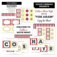 Movie Night Printable Party Collection