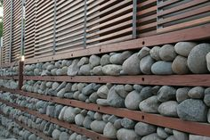 Passive Cooling: Rock Wall. A Natural Thermostat #Expo2015 #Milan #WorldsFair