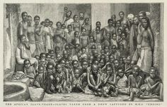 The African Slave-Trade -- Slaves taken from a dhow captured by H.M.S. 'Undine' - National Maritime Museum
