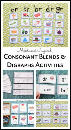 Montessori Inspired Blue Series - Learning about Consonant Blends | The Pinay Homeschooler...