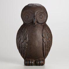 One of my favorite discoveries at WorldMarket.com: Cast Iron Owl Doorstop