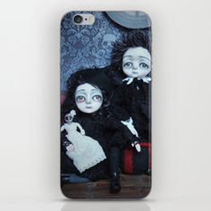 Vincent and Vanessa, the vampire children iPhone Skin Iphone Skins, Crow, Tech Accessories, Wall Art, Children, Young Children, Crows, Boys, Kids