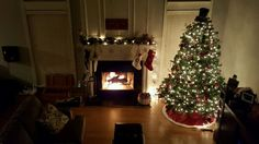 The stockings are hung...the tree is bright...