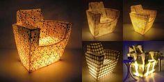 Mobili che illuminano. Qualche esempio di design: delle poltrone che hanno in sé la luce dal basso, un arredamento per niente mainstream.