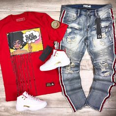 Jordans Outfit For Men, Dope Outfits For Guys, Swag Outfits Men, Tomboy Outfits, Dance Outfits, Cool Outfits, Teen Boy Fashion, Tomboy Fashion, Fashion Outfits