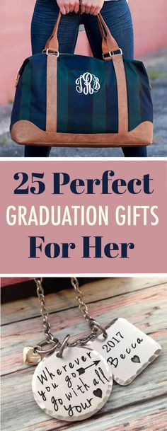 25 Perfect Graduation Gifts For Her – - therezepte sites Unique Graduation Gifts, High School Graduation Gifts, College Student Gifts, Graduation Diy, Graduation Gifts For Her, Graduation Invitations, Birthday Presents For Her, Birthday Gifts, 25th Birthday