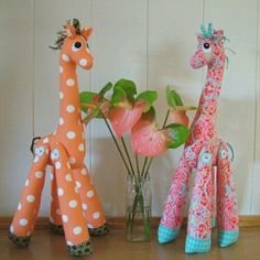 Stuffed giraffe's