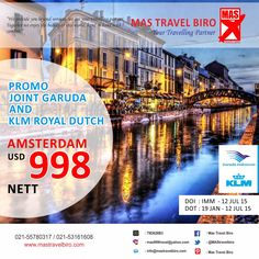 Tiket Promo Garuda Join KLM to Amsterdam , Contact us for book Ticket ;)