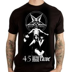 "45 GRAVE ""Black Cross"" T-Shirt"