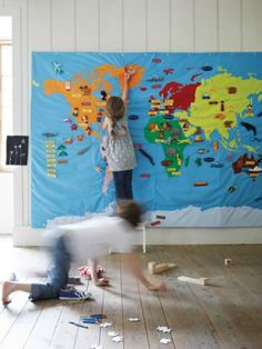 Giant Fabric Wall Map by Cox & Cox