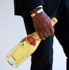 "Kanye West rocking the ""fatter"" Cartier Love bracelet + Cartier Bubbly - Love"