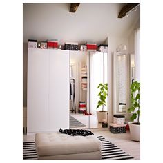 IKEA VIKEDAL door with hinges 10 year guarantee. Read about the terms in the guarantee brochure. Pax System, Ikea Wardrobe, Mirrored Wardrobe, Ikea Mirror, Mirror Door, Mirror Glass, Loft Door, Wardrobe Systems, Soft Closing Hinges
