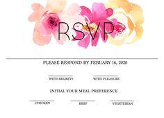 free modern printable watercolor wedding rsvp