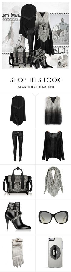 """""""Loose Knit Sweater"""" by fatime-style-art ❤ liked on Polyvore featuring Rick Owens, Chicwish, Balmain, 3.1 Phillip Lim, Yves Saint Laurent, Michael Kors, Gucci, Lipsy, StreetStyle and contest"""