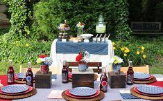 Backyard BBQ Inspiration {Part 1} – Tabletop & Buffet + FREE Printables