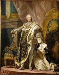 Louis XV by Louis-Michel Van Loo, ca. 1700's.