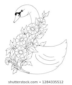 Cat Coloring Page, Coloring Book Art, Flower Coloring Pages, Easy Flower Drawings, Beautiful Flower Drawings, Outline Drawings, Art Drawings, Arte Do Galo, Hand Embroidery Design Patterns