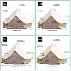 4 Seasons Waterproof Cotton Canvas Bell Large Family Camping Tent for Hunting Yurt Tents Bell Tent Glamping, Yurt Tent, Yurt Camping, Camping Set Up, Cabin Tent, Outdoor Camping, Camping Ideas, Camping Essentials, Camping Storage