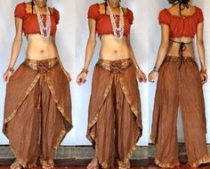 * FREE WORLDWIDE SHIPPING * No Minimum Order - GYPSY BOHO HAREM BELLY DANC PANTS TROUSERS TOP H32