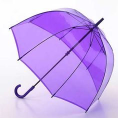 Fulton Birdcage Lavender - see through PVC dome umbrella