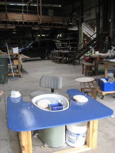 A Wheel Table: Setting Up Your Pottery Studio - Marian Williams Pottery | Marian Williams Pottery