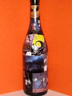 DAVID BOWIE Decoupage on Huge Wine Bottle by CelebrityBottleCo ...