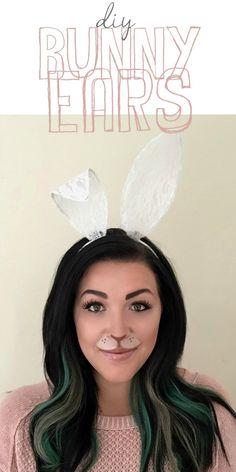 DIY Bunny Ears Halloween Costume