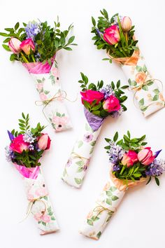 Mothers Day Flower Gift Wrap Free Printable Download Floral Flower_-8