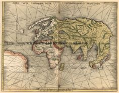 ch3: 1508 LATE MEDIEVAL MAP OF THE KNOWN WORLD BY WALTZMULLER
