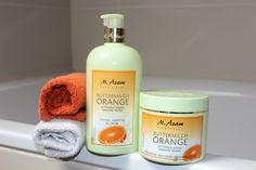 Ladylike - but never old-fashioned: Buttermilch Orange Duschgel und Bodycream von M. Asam