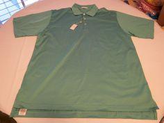 Mens Peter Millar XL cotton short sleeve polo shirt casual Basil MF09K01 NWT@ #PeterMillar #PoloRugby