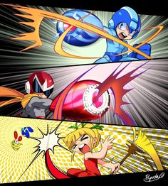 This is so cool-looking and hilarious I am one of the bickering siblings When you have several sibs all close in age there's gonna be lots o' bickering Mega Man Proto Man Roll LOL Light Siblings Megaman others' art fan art