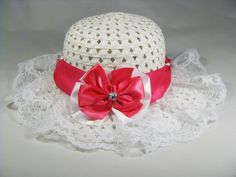 Tea+Party+Hat++Girls+Sun+Hat++White+Easter+by+PureReflections,+$18.00