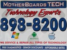 MotherBoards TECH- Computer and Technology EXPERTS in Savannah Ga. Wilmington Island- Free diagnostics on PC and Laptop. Service/repair of all technology. Computer Repair Services, Computer Service, Types Of Technology, Computer Technology, Slow Computer, Android Computer, Computer Virus, Wilmington Island, Audio