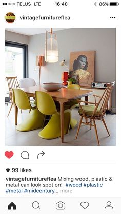 Eclectic dining room MCM