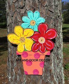 Summer door hanger,Flower door hanger,Personalized decor hanger,Custom door hanger,summer door sign, party door decor, by Furnitureflipalabama on Etsy