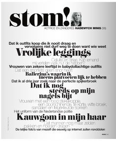 typography in Linda. magazine. The Netherlands #layout