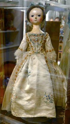 Doll from the 18th century on display at Angel's Attic Museum. Isn't she wonderful?