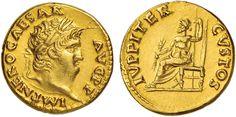 NumisBids: Nomisma Spa Auction 50, Lot 24 : ROMA IMPERO Nerone (54-68) Aureo - Testa laureata a d. - R/ IVPPITER...