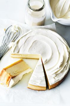 Classic Lemon Cheesecake maybe try this replacing the lemon with key limes?